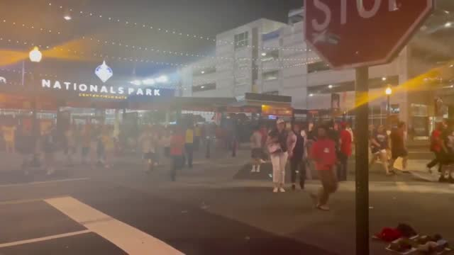 gunshots were heard and caused panic at the nationals park baseball stadium in washington, d.c. saturday, july 17. the shooting occurred outside the... - nationals park stock videos & royalty-free footage