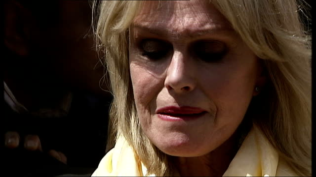 gurkha veterans win battle to live in uk lumley looking emotional at hearing good news joanna lumley interview sot extraordinary / something we have... - joanna lumley stock videos & royalty-free footage