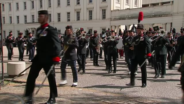 gurkhas commemorate 200 years of service in the british army but thoughts are with those at home england london ext various of gurkha military band... - british military stock videos & royalty-free footage