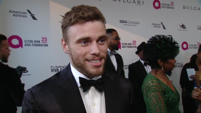 interview gus kenworthy at the elton john aids foundation presents the 26th annual academy awards viewing party on march 04 2018 in west hollywood... - 90th annual academy awards stock videos & royalty-free footage