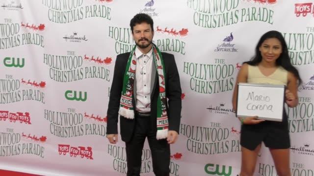 gus sanchez at the 86th annual hollywood christmas parade on november 26 2017 in hollywood california - sfilata di natale di hollywood video stock e b–roll