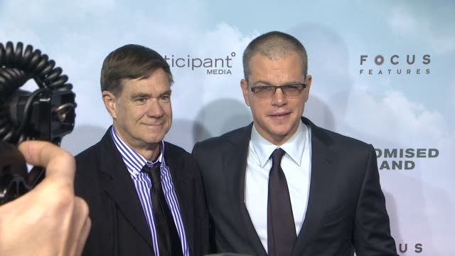 gus van sant and matt damon at promised land new york premiere presented by focus features at amc loews lincoln square 13 theater on december 04 2012... - amc loews stock videos and b-roll footage
