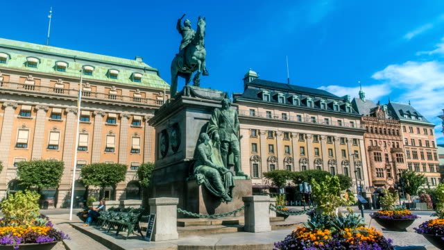 gustav ii adolf kings garden stockholm sweden - stockholm stock videos & royalty-free footage