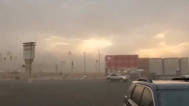 stockvideo's en b-roll-footage met gusty winds whipped up a dust storm at safford in arizona's southeastern region on monday evening, june 14. despite a drought currently gripping 99%... - southwest usa