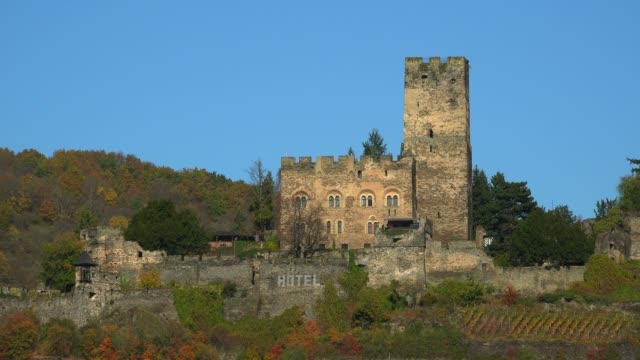 Gutenfels Castle in Kaub, Rhine River, Rhineland-Palatinate, Germany, Europe