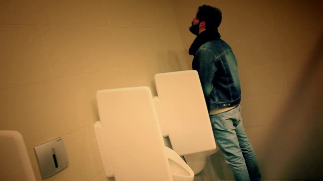 guy at the toilet - urinal stock videos & royalty-free footage