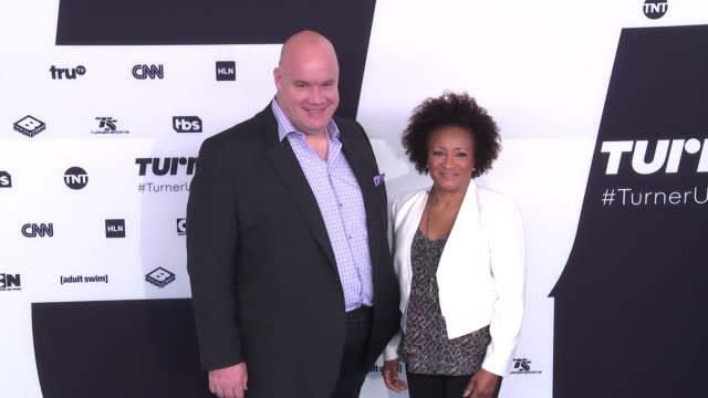 guy branum and wanda sykes at 2017 turner upfront at 33rd street on may 17 2017 in new york city - wanda sykes stock videos and b-roll footage
