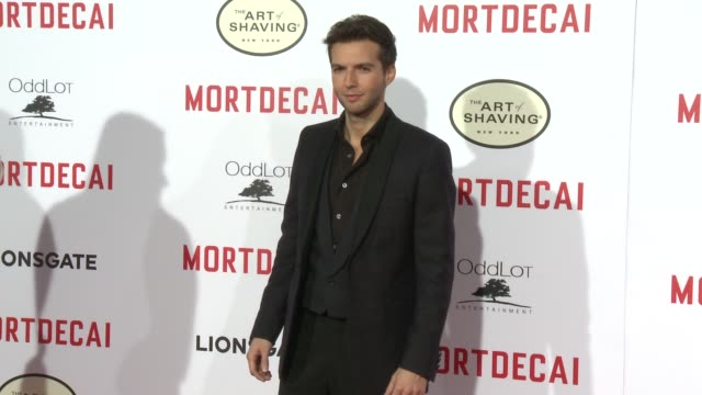Guy Burnet at the Mortdecai Los Angeles Premiere at TCL Chinese Theatre on January 21 2015 in Hollywood California