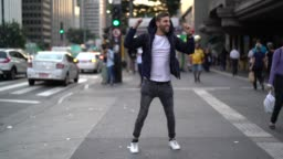 Guy Dancing at Street