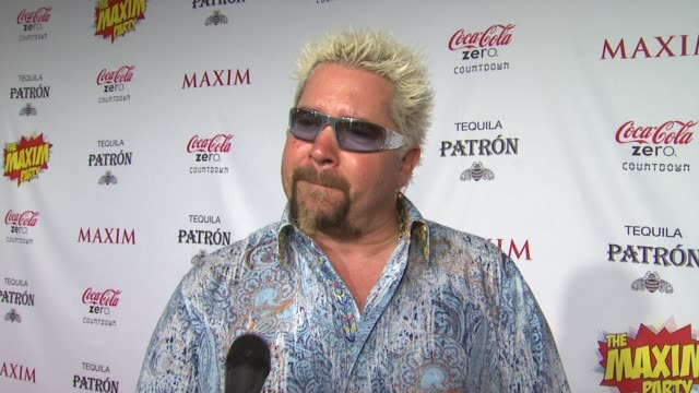 guy fieri on what brings him out the the maxim super bowl party what super power he would most like to have who he thinks is the sexiest super hero... - paul mitchell stock videos and b-roll footage