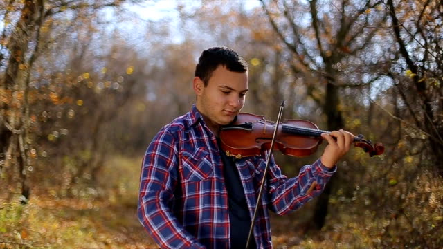 guy playing the violin - soloist stock videos & royalty-free footage