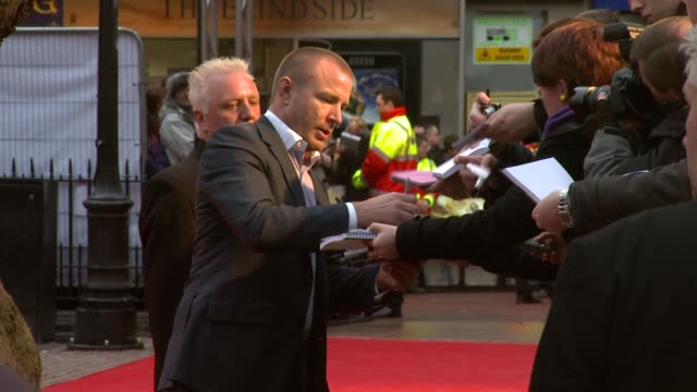 guy ritchie at the the clash of the titans at london england - clash of the titans stock videos & royalty-free footage