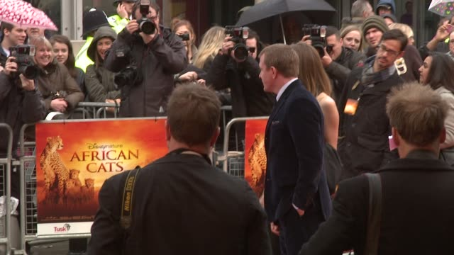 guy ritchie & jacqui ainsley at african cats uk premiere at bfi southbank on april 25, 2012 in london, england - bfi southbank stock videos & royalty-free footage