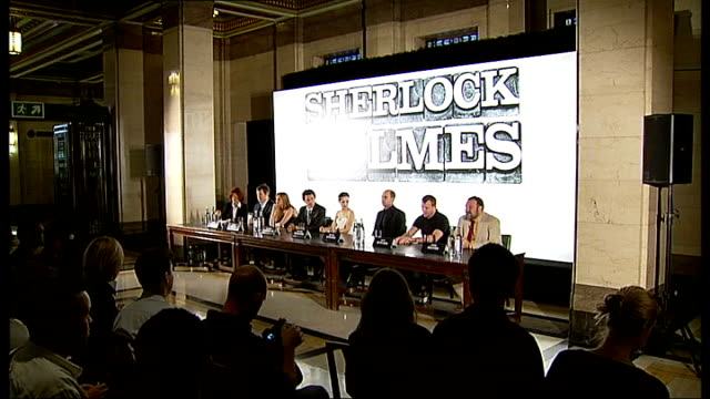 Guy Ritchie 'Sherlock Holmes' film adaptation Press conference with cast and director / Interviews with cast ENGLAND London INT Lionel Wigram Kelly...