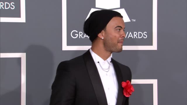 guy sebastian at the 55th annual grammy awards arrivals in los angeles ca on 2/10/13 - grammy awards stock videos and b-roll footage