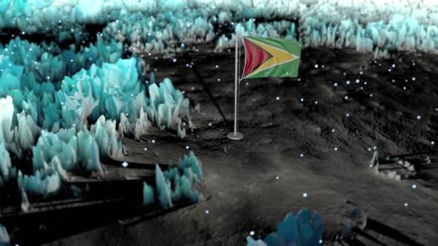 guyana epic flag background loop - guyana stock videos & royalty-free footage