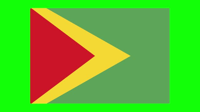 guyana flag animation on green screen background, chroma key, loopable - guyana stock videos & royalty-free footage
