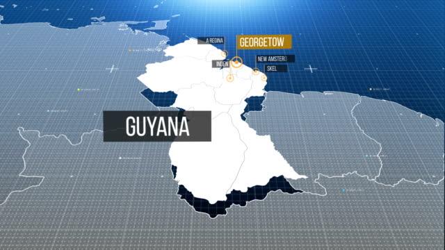 guyana map - guyana stock videos & royalty-free footage