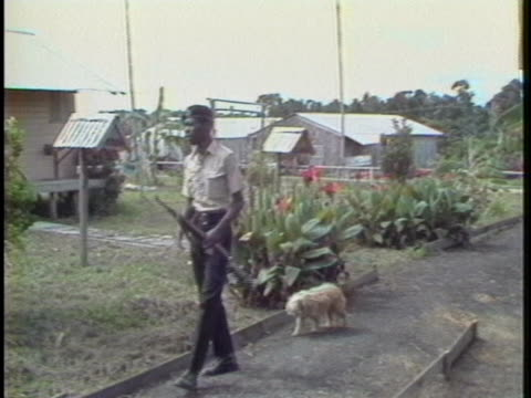 guyana police patrol jonestown one year after the massacre. - non urban scene stock videos & royalty-free footage