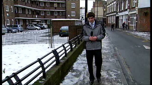 guy's hospital employee walks 18 miles through snow to get to work; guy's hospital employee walks 18 miles through snow to get to work; england:... - peter snow stock videos & royalty-free footage