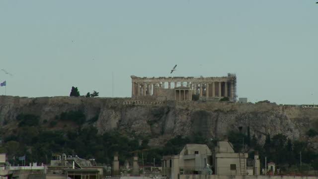 gv acropolis of athens - acropolis athens stock videos & royalty-free footage