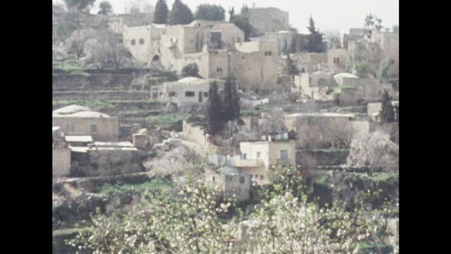 gvs abu ghosh, israel; 1969 - general view stock videos & royalty-free footage