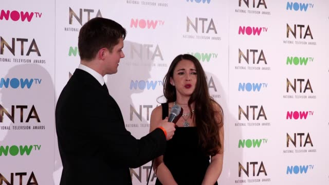 GVs and interview with Danny Dyer and Lacey Turner who won the Serial Drama Performance award at the National Television Awards 2017