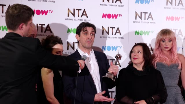 GVs and interview with the cast of Call The Midwife which won the Best Period Drama award at the National Television Awards 2017