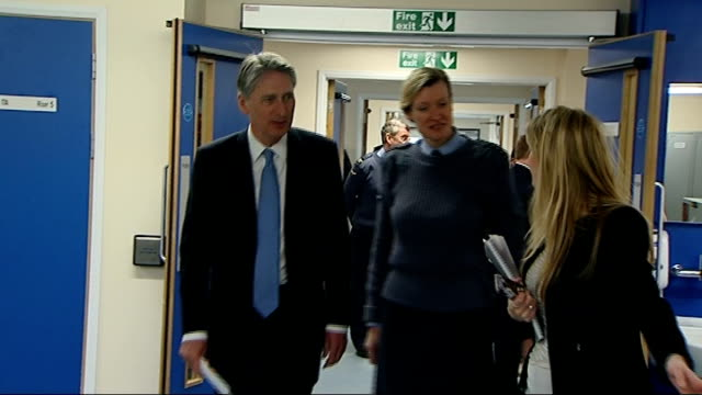 gvs and intvws at headley court england surrey headley court defence medical rehabilitation centre int ***some philip hammond mp along on arrival /... - surrey england stock videos & royalty-free footage
