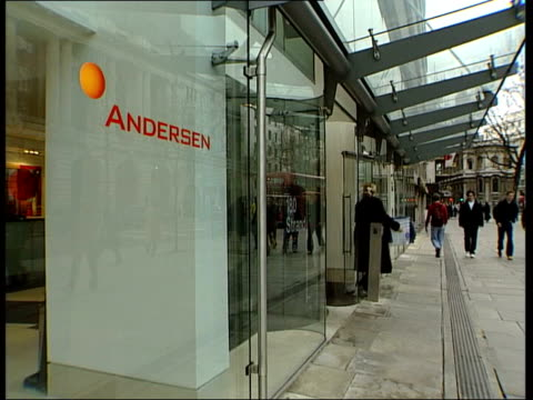gvs andersen accountancy firm headquarters building cf = d0614934 or d0614935 00.13.40 to 00.15.21 mix pab = d0614933 - worldcom stock-videos und b-roll-filmmaterial