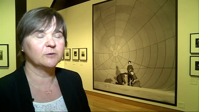 stockvideo's en b-roll-footage met gvs cecil beaton exhibition at the imperial war museum roberts interview sot - imperial war museum museum