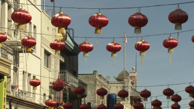 gvs chinatown district in san francisco, usa - chinatown stock videos & royalty-free footage