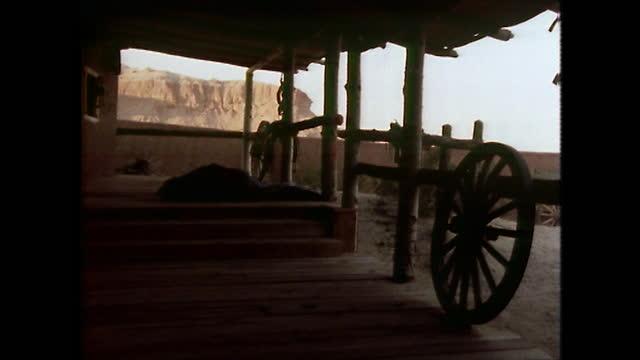 gvs early morning on a dude ranch in texas; 1979 - 外乗点の映像素材/bロール