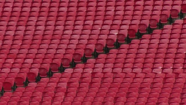 gvs empty wembley stadium; england: london: wembley: wembley stadium: ext gvs empty seats in stands and empty pitch of wembley stadium /... - wembley stadium stock videos & royalty-free footage