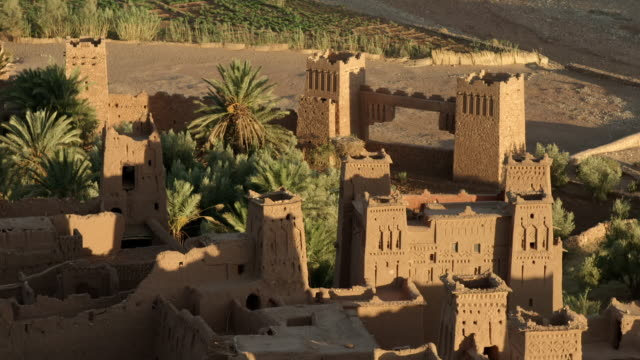 gvs fortified village in the ounila valley, morocco - lehm mineral stock-videos und b-roll-filmmaterial