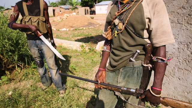 GVs from a displaced persons camp in the Central African Republic The Seleka conflict has raged since 2013