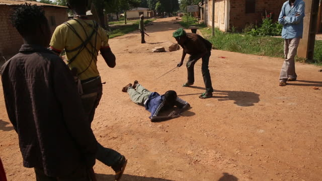 gvs from a displaced persons camp in the central african republic the seleka conflict has raged since 2013 - punishment stock videos & royalty-free footage
