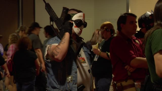 gvs from dragon con 2013 in atlanta - toy gun stock videos & royalty-free footage