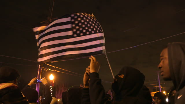 gvs from ferguson, missouri where protests and riots erupt onto the streets following the grand jury decision not to indict officer darren wilson in... - confrontation stock videos & royalty-free footage