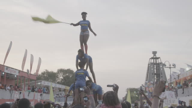 gvs from haiti's annual carnival celebration in portauprince a day after bloody political protests - flag haiti stock videos & royalty-free footage