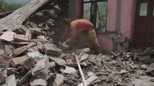 GVs from Nepal where the April 2015 earthquake has killed thousands and civilians must deal with the aftermath as rescue teams from around the globe...