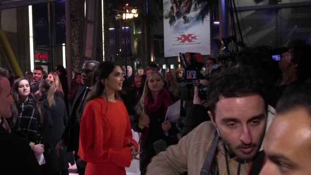 return of xander cage including stars vin diesel nina dobrev mma fighter michael bisping donnie yen deepika padukone ruby rose hermoine corfield tony... - vin diesel stock videos and b-roll footage