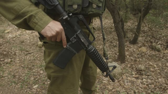 gvs from the israellebanon border where idf trackers are on the front lines of defense - israelisches militär stock-videos und b-roll-filmmaterial