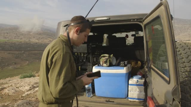 gvs from the jordan valley where the ultraorthodox are required by law to serve the israeli defense forces much to the community's dismay - torah stock videos and b-roll footage