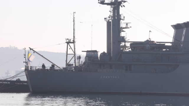 gvs from ukraine in 2014 where russian troops have annexed crimea and the russian federation has administered sevastopol as a federal city - sevastopol crimea stock videos and b-roll footage