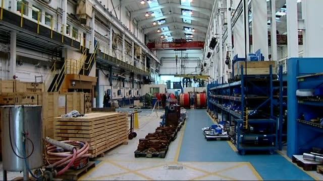 bedfordshire luton int gvs staff at work in hayward tyler group manufacturing factory / shop floor of factory / workers in overalls at engineering... - pulley stock videos & royalty-free footage