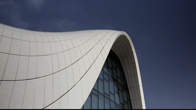 gvs heydar aliyev centre, baku - baku video stock e b–roll