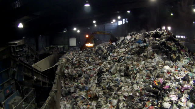 gvs inside a recycling centre - tyne and wear stock videos & royalty-free footage