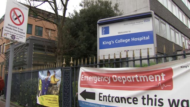 vídeos de stock e filmes b-roll de gvs king's college hospital in brixton lambeth england london lambeth brixton cutcombe road king's college weston education centre / denmark hill... - king's college
