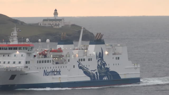 gvs lerwick, shetland isles - ferry stock videos & royalty-free footage